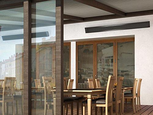 1000W Terrassen-Heizkörper, Infrarotheizung für Außen, beheizt 25-50m³, Wand-/Deckenmontage, HVH10TH - 3