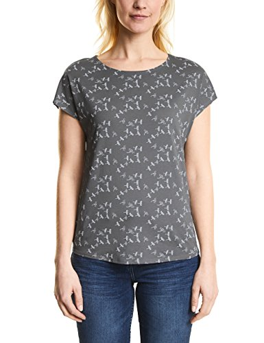 Cecil Damen T-Shirt Grau (Graphit Light Grey 20498)