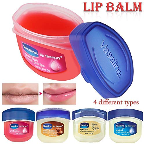4x Vaseline Lip Therapy - Rosy Lips, Cocoa Butter, & Original -USA-