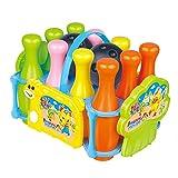 Heng Jian Bowlingkugel Boule-Spiele Kegelspiel DIY Bowling Haus mit Aufklebern Spielzeug für Kinder ab 3 Jahren