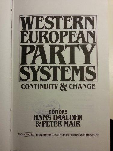Western European Party Systems: Continuity and Change