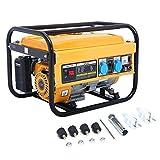 SWEEPID Benzin Stromerzeuger WX-2500A (4-Takt, Dauerleistung 2000 W, max. 2.8KW, zwei 220 Volt-Anschlüsse, 15 L-Tank, Voltmeter, Überlastschalter, Ölmangelsicherung, Seilzugstart)