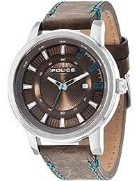 INTELIHANCE. 14375JS/12 - Reloj para hombres, correa de cuero color marrón