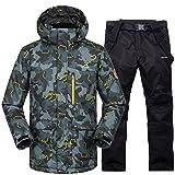 YFF Skianzug Männer Frauen Super warm Winter Wasserdicht winddicht Ski Snowboard Jacke und Hose Sets, 8, L