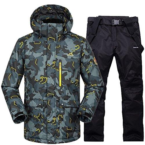 YFF Skianzug Männer Frauen Super warm Winter Wasserdicht winddicht Ski Snowboard Jacke und Hose Sets, 8, XL (Ski Set Jacke)