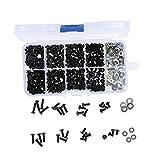 SODIAL Ensemble de Boite de vis pour HSP 1/10 Traxxas Tamiya HPI Kyosho D90 SRC10 Pieces de Voiture telecommandees RC 180pcs