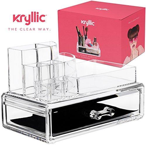 AcryliCase® Make-up & Jewelry Organizer ordnet, Make-up und Accessoires, 2 Stück kosmetische Storage Display Box klar (Mesh-schublade-storage Box)