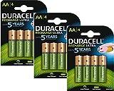 Duracell Duralock Akku PreCharged (AA, HR6, 1,2 Volt, 2500mAH) 12 Stück