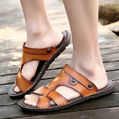 l'été, les jeunes les jeunes hommes en cuir chaussures sandales summer sandales Brown