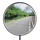 e5cb2e2647 Espejo de Seguridad Espejo de la Vigilancia Panorámica Espejo Convexo  Policarbonato Tráfico 30CM Negro