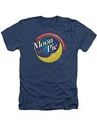 Luna Pie Marshmallow galletas postre actual Logo Adulto Heather camiseta Tee