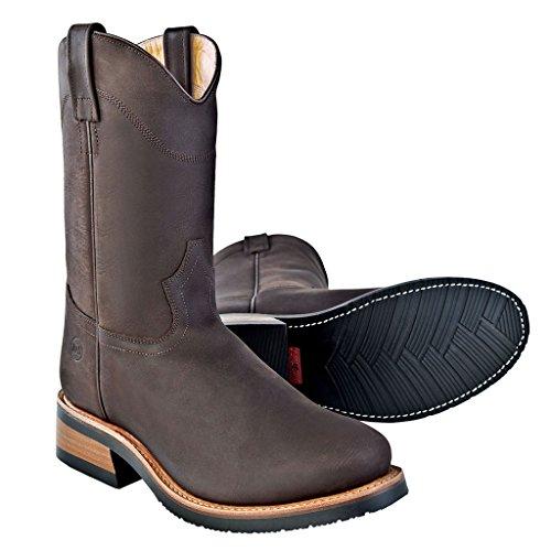 Old West Stiefel Omaha Braun | 42 (West Western-cowboy-stiefel Old)