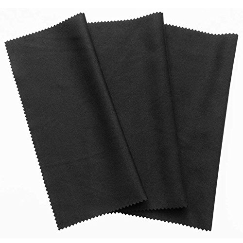Cikuso 3x microfiber cleaning cloth 20x19cm, black cleaning cloths, touchscreen, smartphone display, glasses, laptop, lens, screen LED