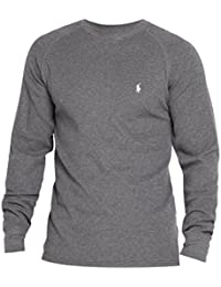 Polo Ralph Lauren Hommes / Garçons à Manches Longues En Tricot Gaufré Thermique T-shirt jour d'usure usure / sommeil Gris M