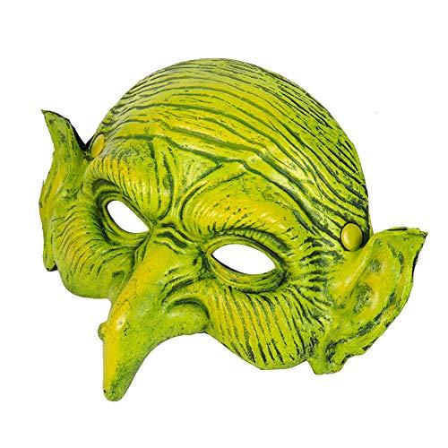 Ouken 1PC Hexenmaske für Halloween-Partei-Kostüm-Dekorationen Horrific Dämon Erwachsener Scary Witch Maske Halloween-Partei-Kostüm Creepy Latex-Maske - Scary Witch Kostüm