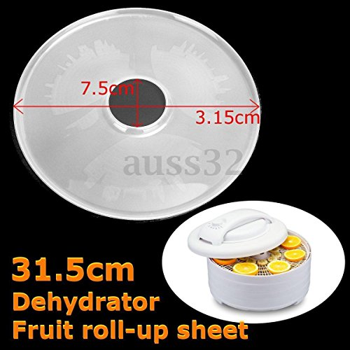 Generic Plastic Flow Food Dehydrator Mesh Sheet Nonstick Liner Clean Screen Dia 31. 5cm