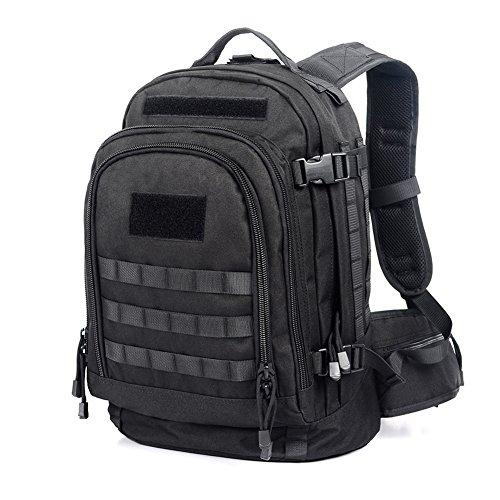Imagen de yakeda® 600d  poliéster impermeable, impermeable  militar  táctica  a88051 negro  alternativa