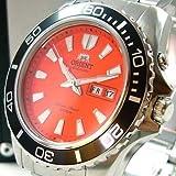 Orient Herren-Armbanduhr Analog Automatik Leder orange CEM75001MV - 2