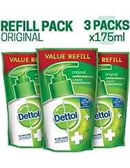 Dettol Germ Protection Handwash Refill - 175 ml (Original, Pack of 3)