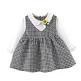 Julhold Kleinkind Kinder Baby Gefälschte Zwei Einfache Kleider Karo Sonnenblume Mädchen Prinzessin Party Kleid 0-24 Monate