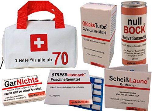 Erste Hilfe Tasche zum 70. Geburtstag (5-teilig)