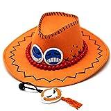 Ace One Piece Chapeau de Personnage d'anime COS Cowboy Visière de Chapeau