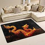 coosun Chinesischer Drache Laterne Bereich Teppich Teppich rutschfeste Fußmatte Fußmatten für Wohnzimmer Schlafzimmer 91,4x 61cm, Textil, multi, 36 x 24 inch