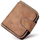 PARADOX (LABEL) Girls Bi-fold Card Holder Womens Purse Clutch RFID Blocking Wallet (Brown)