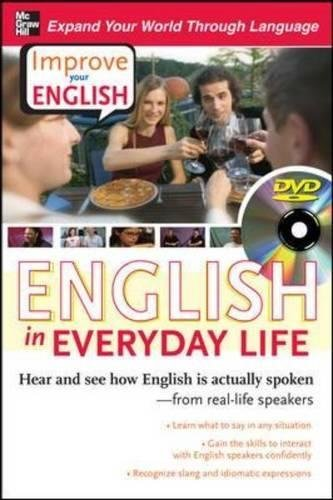 Improve Your English: English in Everyday Life (DVD w/Book): Hear and see how English is actually spoken-from real-life speakers by Stephen E. Brown Ceil Lucas(2008-10-03)