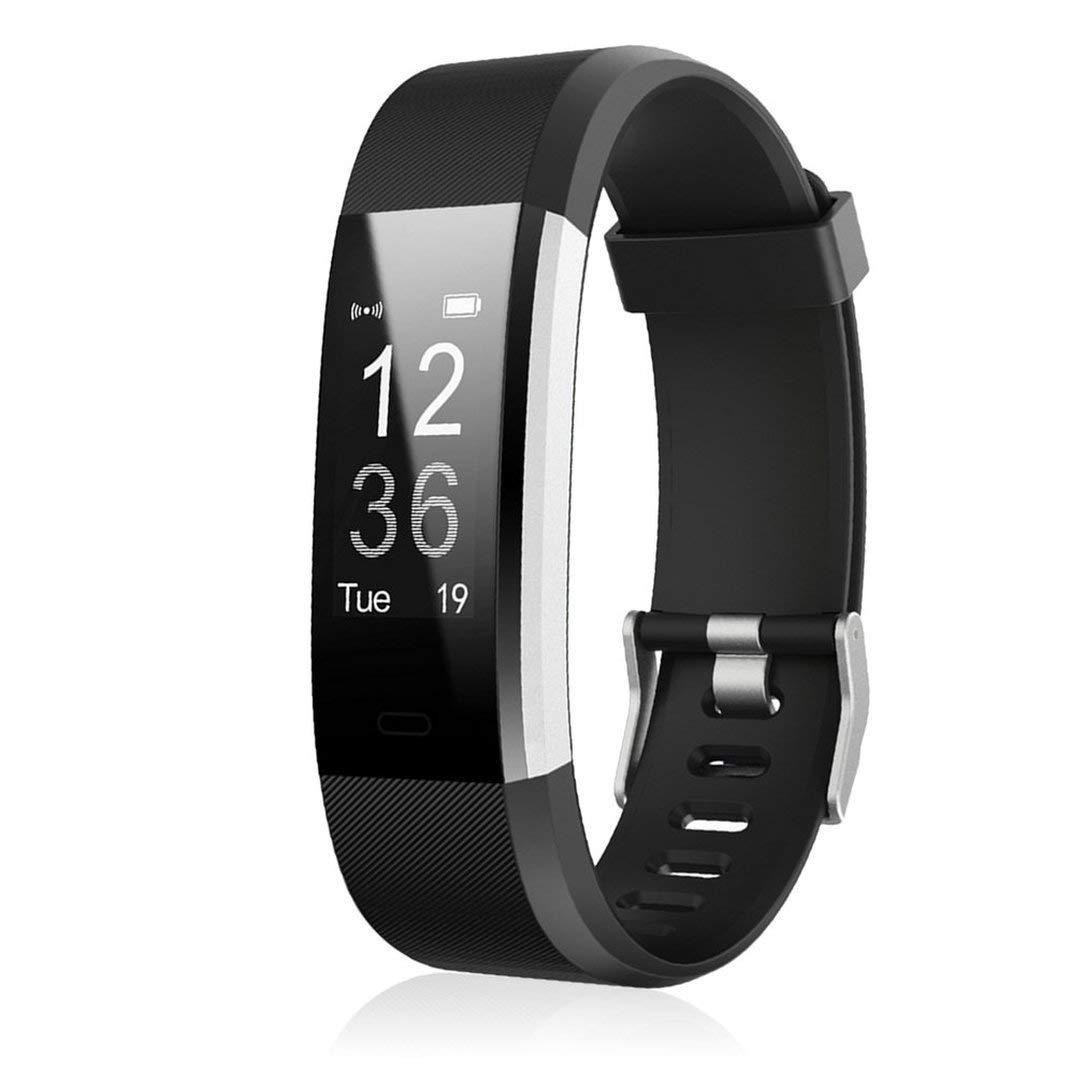 ID 115HR Plus Smart Wristband Sports Heart Rate Smart Band Fitness Tracker (Negro) 1