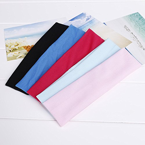 Voiks 1 Pcs Yoga Headband Stretchy Headband Cotton Elastic Mixed Colors Ballet...