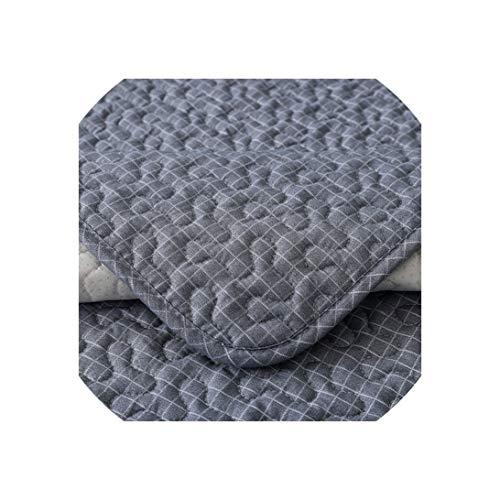 Baumwolle Königin Futon Cover (Sofa Slipcovers Cotton Sofa Kissen Dunkel Plaid Schmutzabweisend Sofa Stoff Sofa Pad Couch Abdeckung Anti-Skid, Dunkelgrau, 45x45cm Pillowcase)