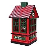 Carillon, Decorazioni in Legno per Decorazioni Natalizie Carosello da Circo Carillon Decorazioni per la Camera dei Bambini Ornamenti Regalo(Rosso)
