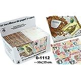 DonRegaloWeb - Display de 24 paquetes con 20 servilletas de papel de triple capa decoradas con motivos cafeteros y multiples colores