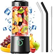 Portable Blender, Jovokich Personal Blender for Shakes and Smoothies, 14oz Juice Extractor Fruit Cup with 4000
