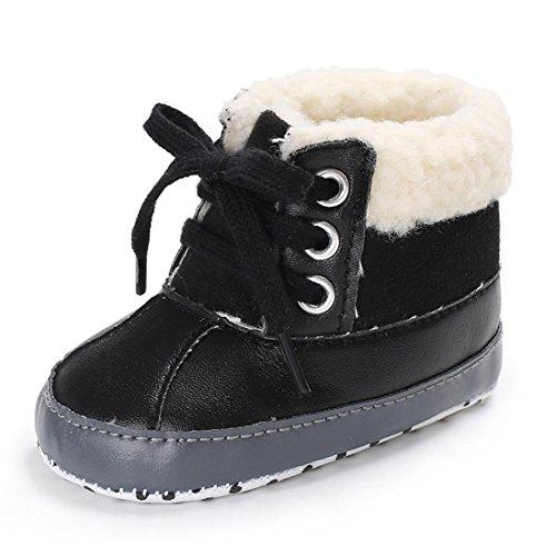 Chaussures de Bébé,Fulltime® Bébé filles garçons doux semelles chaudes bottes de neige en cuir anti-dérapant chaussures