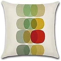 Colorful Geometric nórdico minimalista fundas de cojín funda para sofá cama para salón o dormitorio decoración para el hogar, Excelsio personalizado cuadrado lino y algodón almohada fundas de cojín 45x 45cm/18x 18inch