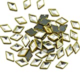 #10: Embroiderymaterial Kundans for Jewellery,Craft,Embroidery Making(Diamond Shape 8MM 100 Pieces)