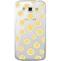 Funda carcasa TPU Transparente para Samsung Galaxy Grand 2 diseño estampado limon limones