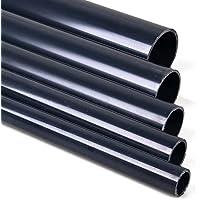 1 Meter PVC Rohr, Druckrohr 10 und 16 Bar 25 32 40 50 63 mm PVC-U Ohne Muffe für Gartenteich, Aquaristik, Sanitär, Bau und Abwasser (25 mm)