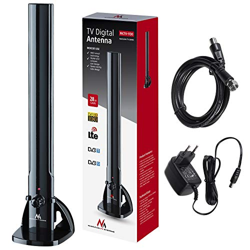 Maclean MCTV-930 Zimmerantenne TV Radio Antenne HDTV DVB-T2 DVB-T LTE DAB UKW 100dBµV Verstärker Digital Terrestrisch -