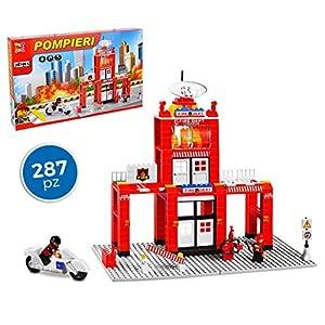 MEDIA WAVE store 37792 Playset mattoncini Caserma dei Pompieri 287 pz da assemblare 7106896660854 LEGO