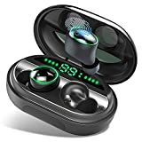 【Neuestes Modell】 Bluetooth Kopfhörer, V5.0 Wireless Earbuds mit 150H Spielzeit, In Ear Bluetooth 5.0 Kopfhörer Kabellos und IPX8 Wasserdicht, Touch-Control, Deep Bass HD-Stereo, Battery LED Display