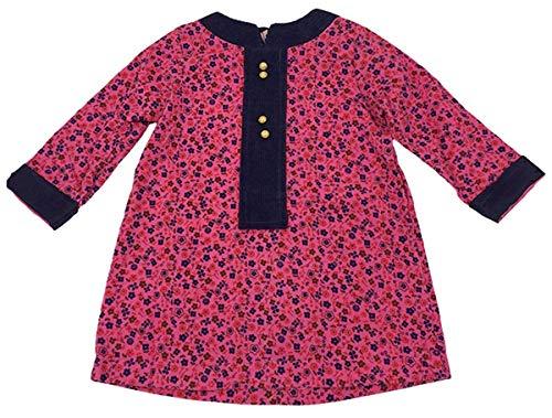 Groovy Cord (Cuckoo Mädchen Vintage Ditsy Blume Cord Trimm Langärmeliges Kleid Größen von 18 Monate bis 3 Jahre - Kirschrot, 18 (18-24 Months))