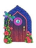 GlitZGlam Miniature Libellule Porte de fée enchantée pour Le Jardin Fées et Gnomes. Une Fée et Nain de Jardin Accessoire