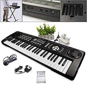 JJOnlineStore - 54 Keys Multi Functional Musical Instrument Piano Synthesizer Keyboard Microphone Kids Adults Beginners Birthday Christmas Gift Present