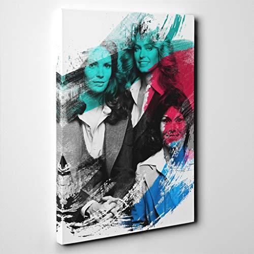 Arty Pie Canvas Print 24 x 16 Inch (60 x 40 cm) Charlies Angels Original Cast V2, Wood, Multi-Colour, 60 x 40 x 3 ()