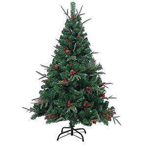 Shatchi 6068-Christmas - Árbol de Navidad artificial (240 cm, 2,4 m), diseño de piñas, color verde