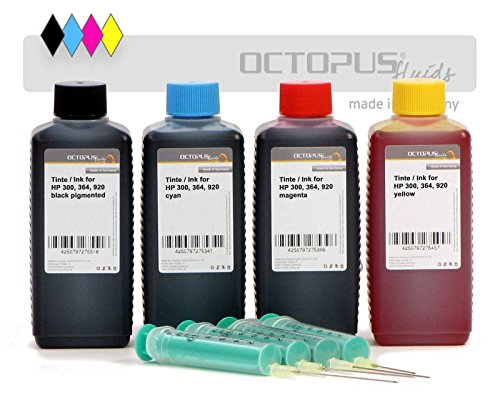 4-x-250-ml-nachfulltinten-komplettset-vier-farben-schwarz-cyan-magenta-und-gelb-fur-hp-364-hp-920-fu