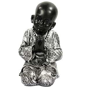 Statuette statut enfant moine style Bouddha - 23 cm